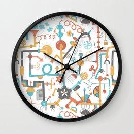 Pipe Dreams - Light Orange Wall Clock