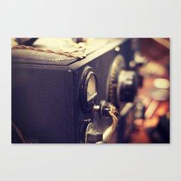 Vintage Radio Equipment Canvas Print