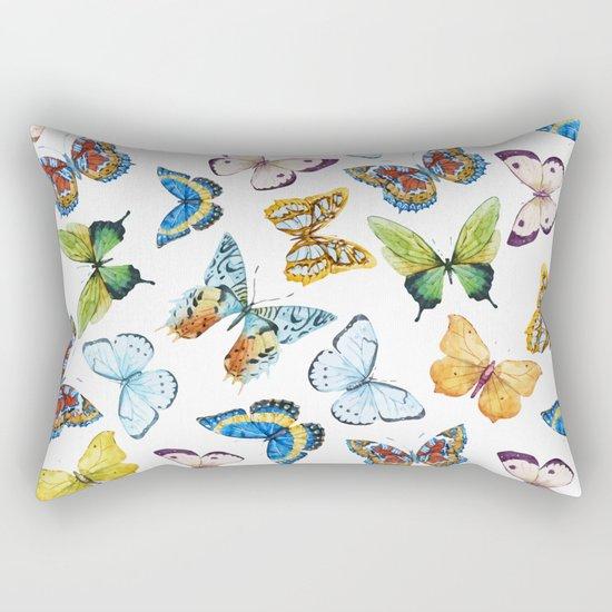 Butterfly Pattern 02 Rectangular Pillow