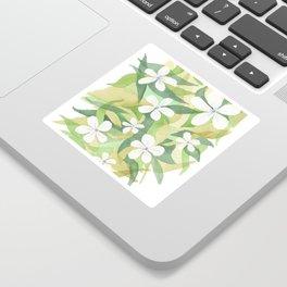 Granny's white flowers Sticker