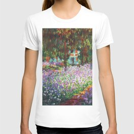 Claude Monet, The Artist's Garden at Giverny 1900 Artwork for Wall Art, Prints, Posters, Tshirts, Men, Women, Kids T-shirt
