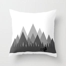 MTB Trailz Throw Pillow