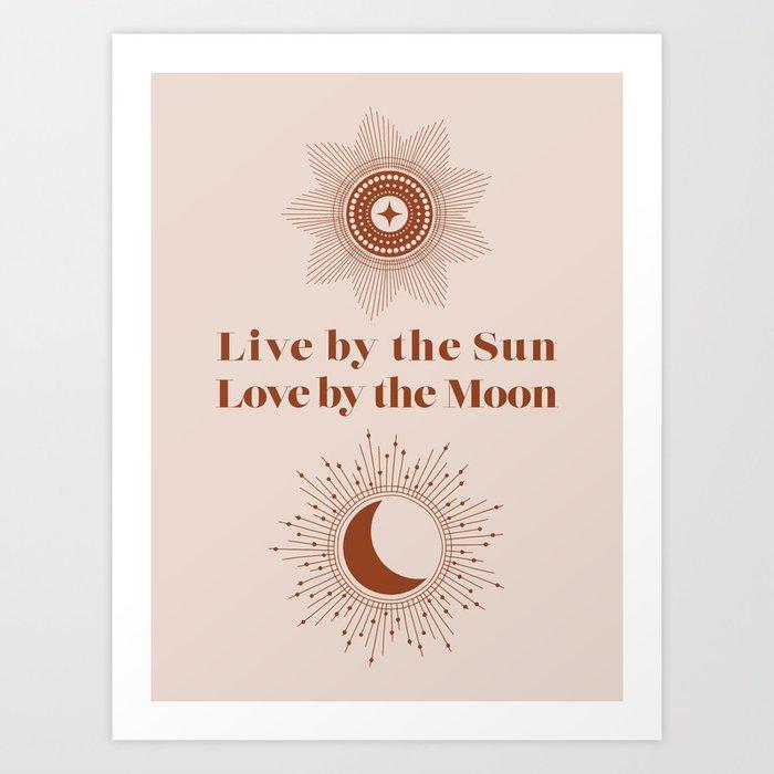 Moon or Sun Art Print