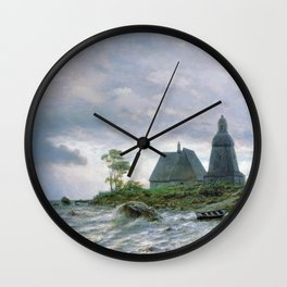 Northern Landscape 1872 By Lev Lagorio | Reproduction | Russian Romanticism Painter Wall Clock