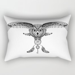 The owl is dreaming Rectangular Pillow