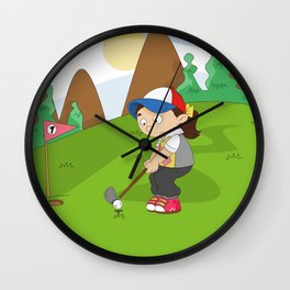 Non Olympic Sports: Golf Wall Clock
