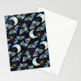 Bloodsucker Buffet Creepy Cute Bat and Mosquito Pattern Stationery Cards