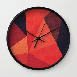 Abstract geometric patter.Triangle background Wall Clock