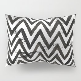 Black Chevron Stripes Boho Designs soutwestern goth Pillow Sham