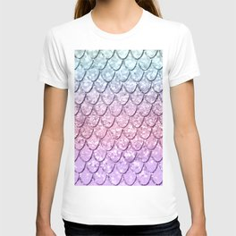 Mermaid Scales on Unicorn Girls Glitter #4 #shiny #pastel #decor #art #society6 T-shirt
