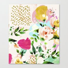 Floral Blush #society6 #decor #buyart Canvas Print