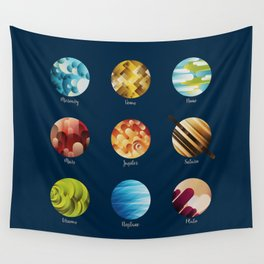 Away from Home and Back - dark Wall Tapestry
