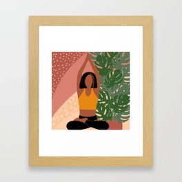 Sitting Asana of Yoga Framed Art Print