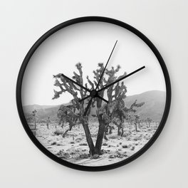 Joshua Trees in the Mojave Desert Wall Clock