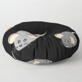 Three mice, mice fan, animals Floor Pillow