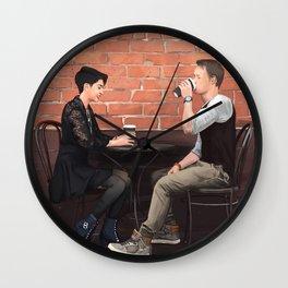 Cofee + Love Wall Clock