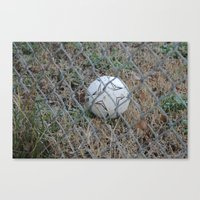 soccer Canvas Prints featuring Soccer by P4XProducts