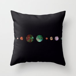 Another solar system Throw Pillow