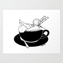 Cappuccino Bath Art Print