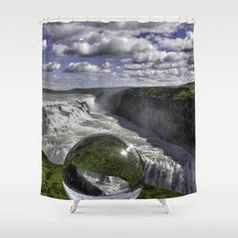 Gulfoss in Crystal Ball 1 Shower Curtain