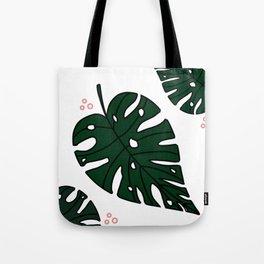 Green Monstera Tote Bag