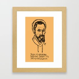 Hipstory Lessons: Michelangelo Framed Art Print