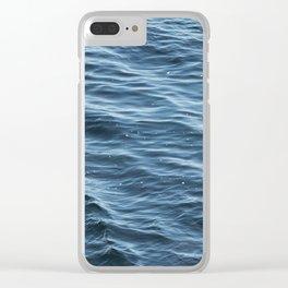 Ocean Wave Pattern 1 Clear iPhone Case