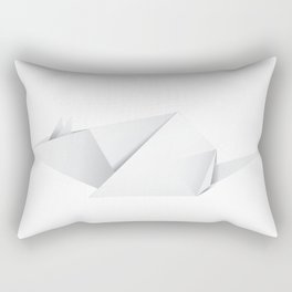 Paper folded white mouse or rat design Rectangular Pillow