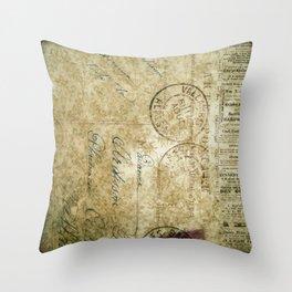 Grunge Damask IV Throw Pillow