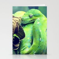 snake Stationery Cards featuring Snake by Yoshigirl