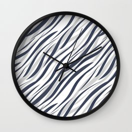 Abstract grey white pattern . Wall Clock