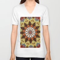 southwest V-neck T-shirts featuring southwest pattern by North 10 Creations