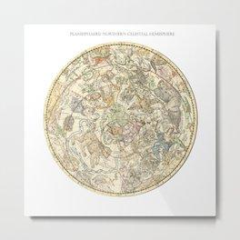 Zodiac constellation Northern Sky Metal Print