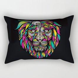 Tiny Hat Lion - Color Rectangular Pillow