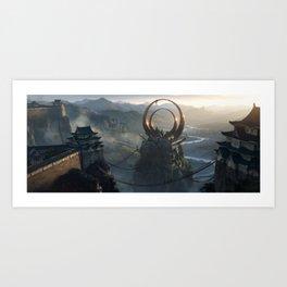Kuwagata Castle / 01 Art Print