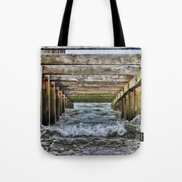 Groynes at Horsey Gap Tote Bag
