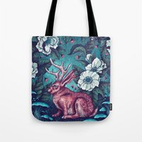 jack Tote Bags featuring Jack by Angela Rizza