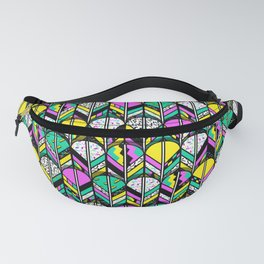 80s feathers Fanny Pack