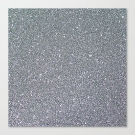 Two Toned Glitter Canvas Print