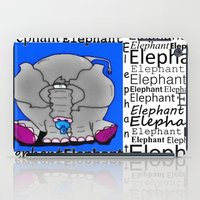 baby elephant iPad Cases featuring Elephant(Baby) by Vivian Fortunato