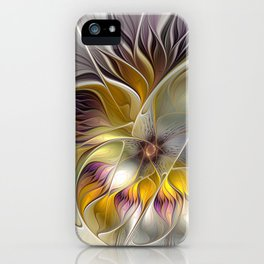 Abstract Fantasy Flower Fractal Art iPhone Case