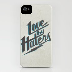 Love Thy Haters - White iPhone (4, 4s) Slim Case