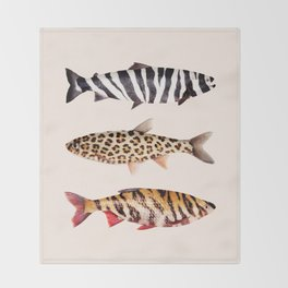 FISH PRINTS Throw Blanket