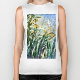 "Claude Monet ""Yellow Irises and Malva"", 1914 - 1917 Biker Tank"