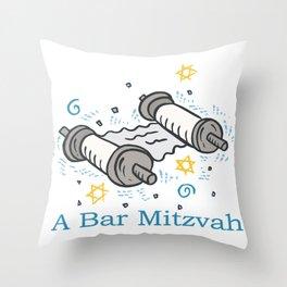Bar Mitzvah with scroll Throw Pillow