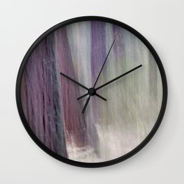 light escaping from deep forest Wall Clock