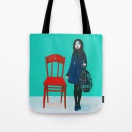 A Blue Bird Tote Bag