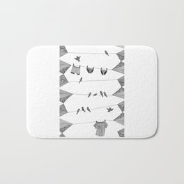Clothing Line Bath Mat