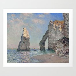 The Rock Needle and the Porte d'Aval by Claude Monet Art Print