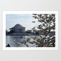 washington dc Art Prints featuring Washington DC by Heidi Poulin